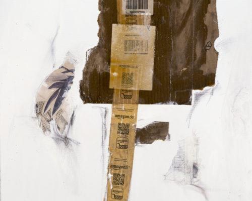AP Ec 10:16, 2015, tecnica mista, cartone su tela, cm 60x60