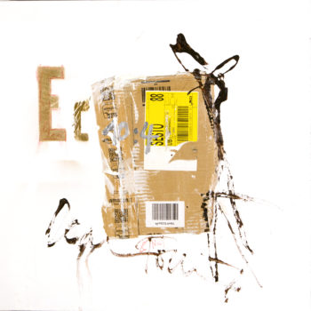 AP Ec 10:4, 2015, tecnica mista, cartone su tela, cm 60x60