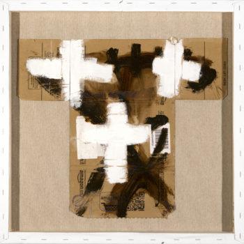 AP Ec 11:8, 2015, tecnica mista, cartone su tela rovesciata, cm 60x60