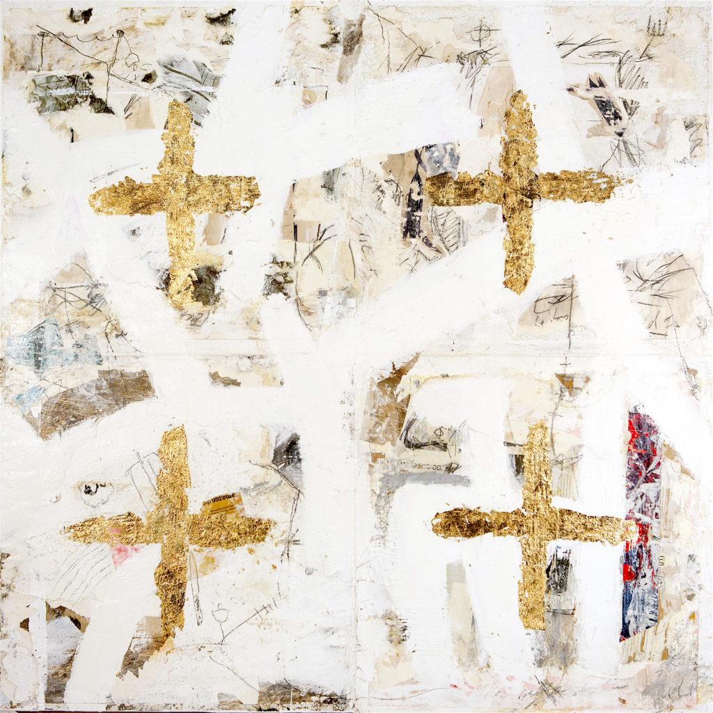 AP Ec 12:8, 2012-2015, tecnica mista, carta su tavole assemblate, cm 100x100