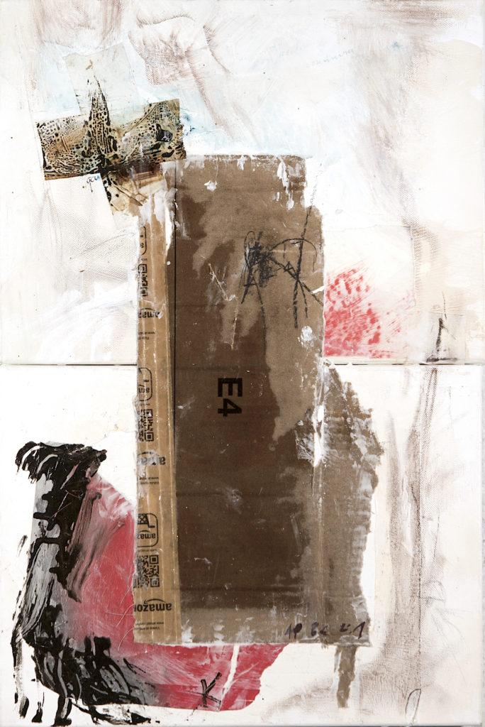 AP Ec 2:1, 2011-2015, tecnica mista, cartone su 2 tele assemblate, cm 40x60