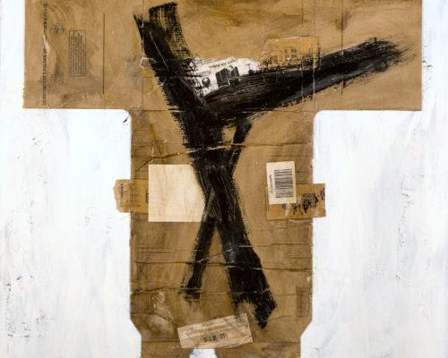 AP Ec 2:3, 2013-2015, tecnica mista, cartone su tela, cm 80x80