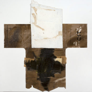 AP Ec 2:9-10, 2015, tecnica mista, cartone e legno su tela, cm 60x60