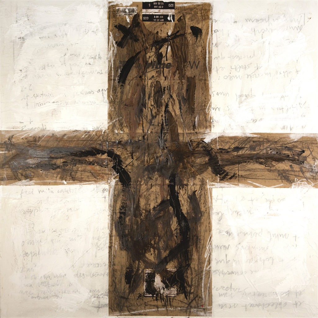 AP Ec 3:21-22, 2015, tecnica mista, carta su tela, cm 100x100