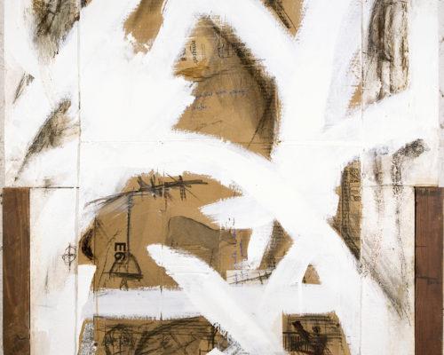 AP Ec 3:22, 2013-2015, tecnica mista, cartone su tavole assemblate, cm 81x95