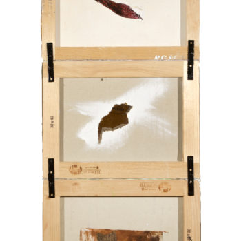 AP Ec 5:7, 2015, tecnica mista, cartone su 3 tele rovesciate e assemblate, cm 40x50