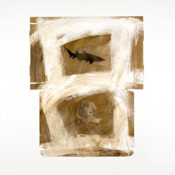 AP Ec 7:3, 2015, tecnica mista, cartone su tela, cm 80x80