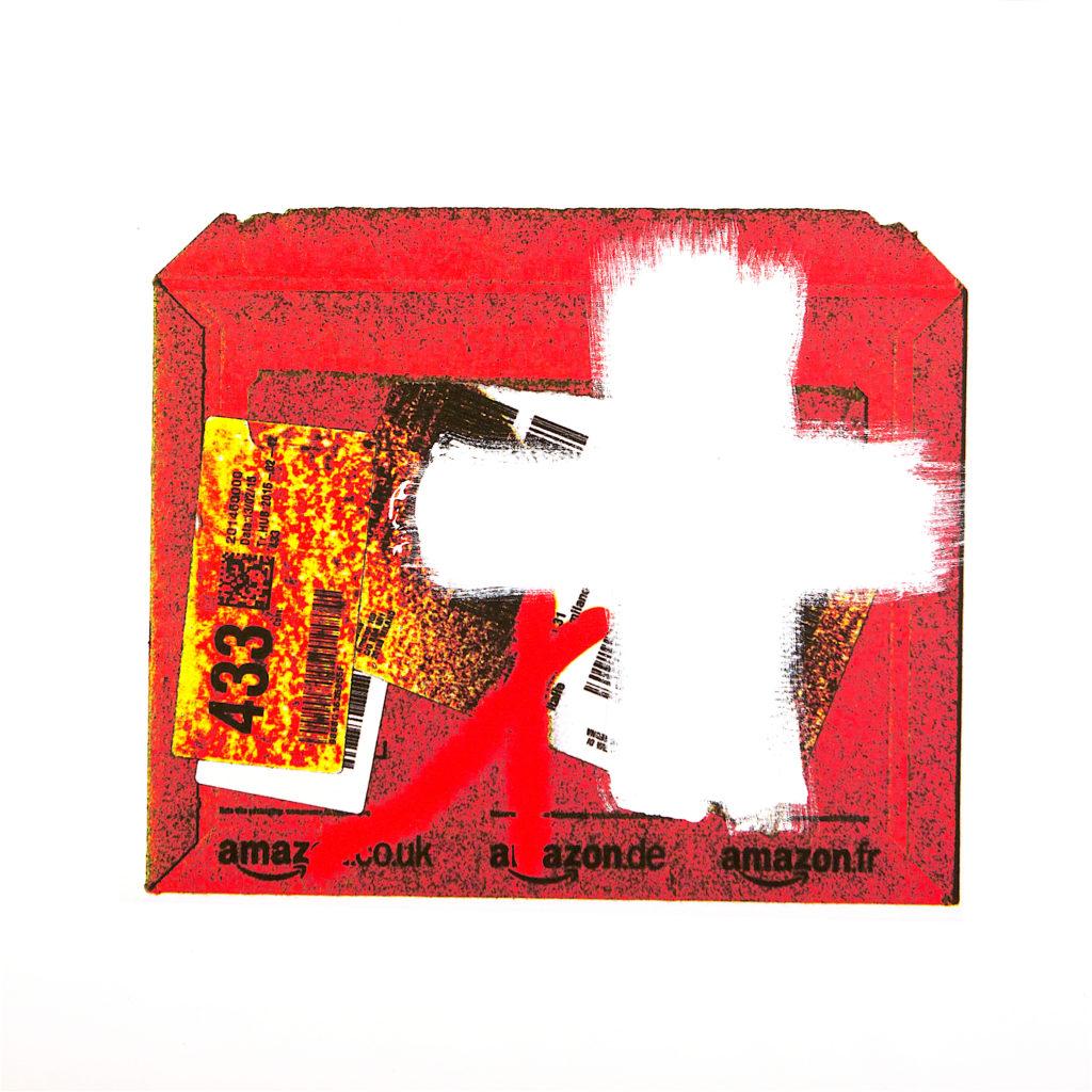 AP Ec 9:2, 2015, tecnica mista su tela stampata, cm 80x80